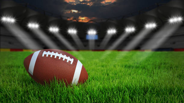 Football arena stock photo