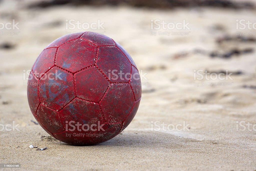 Football at beach royalty-free stock photo