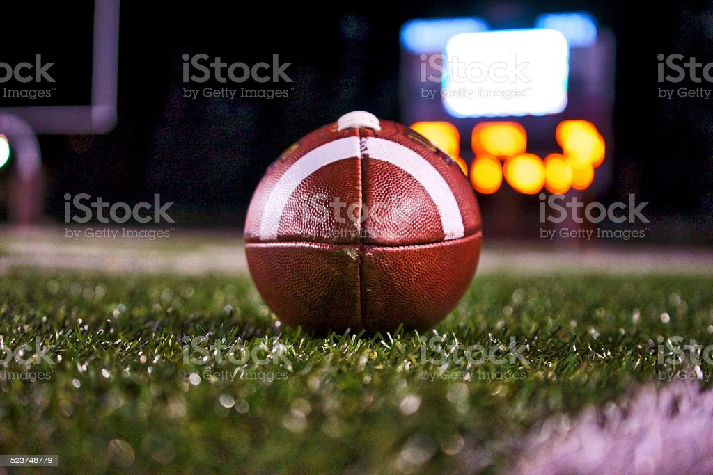Football at Night stock photo