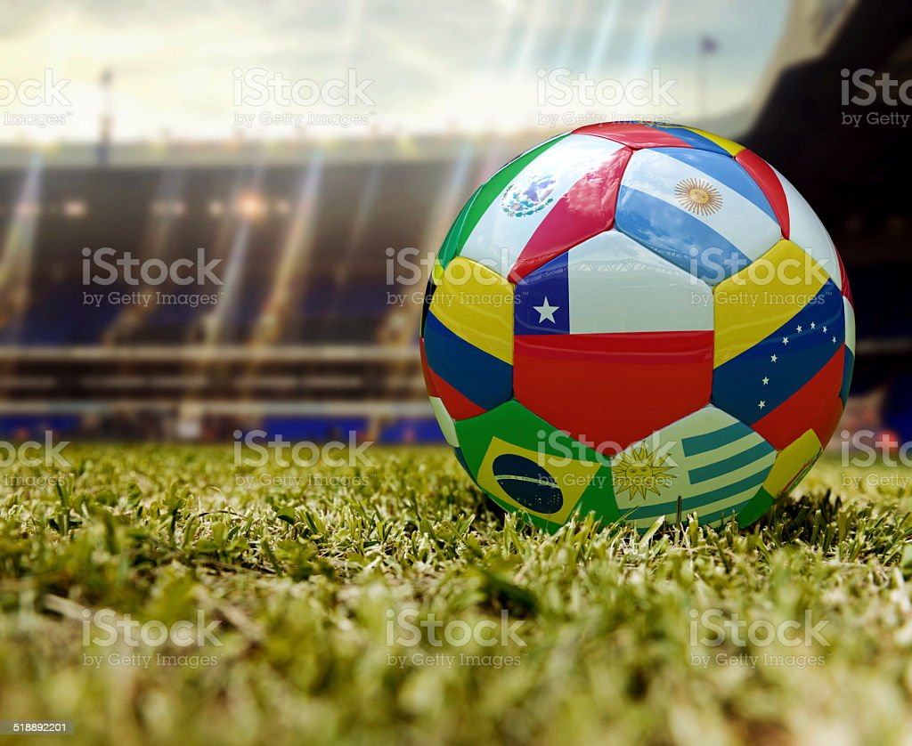 Fútbol en el estadio - foto de stock