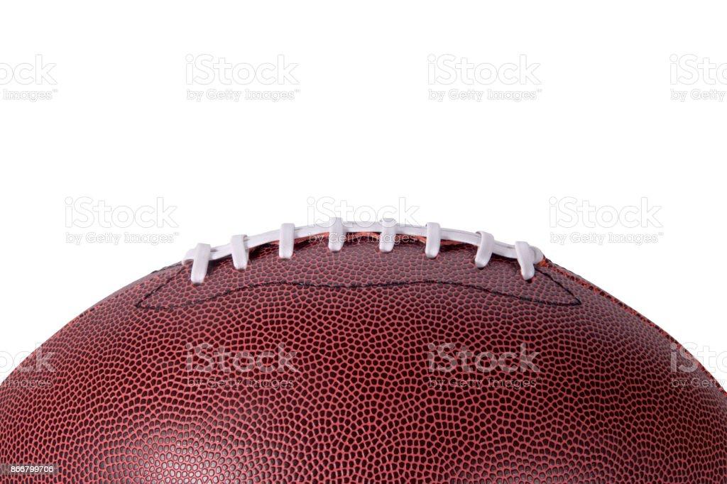 Profil de fond football sur blanc - Photo