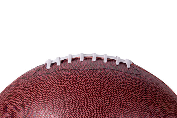 Football Background Profile on White stock photo