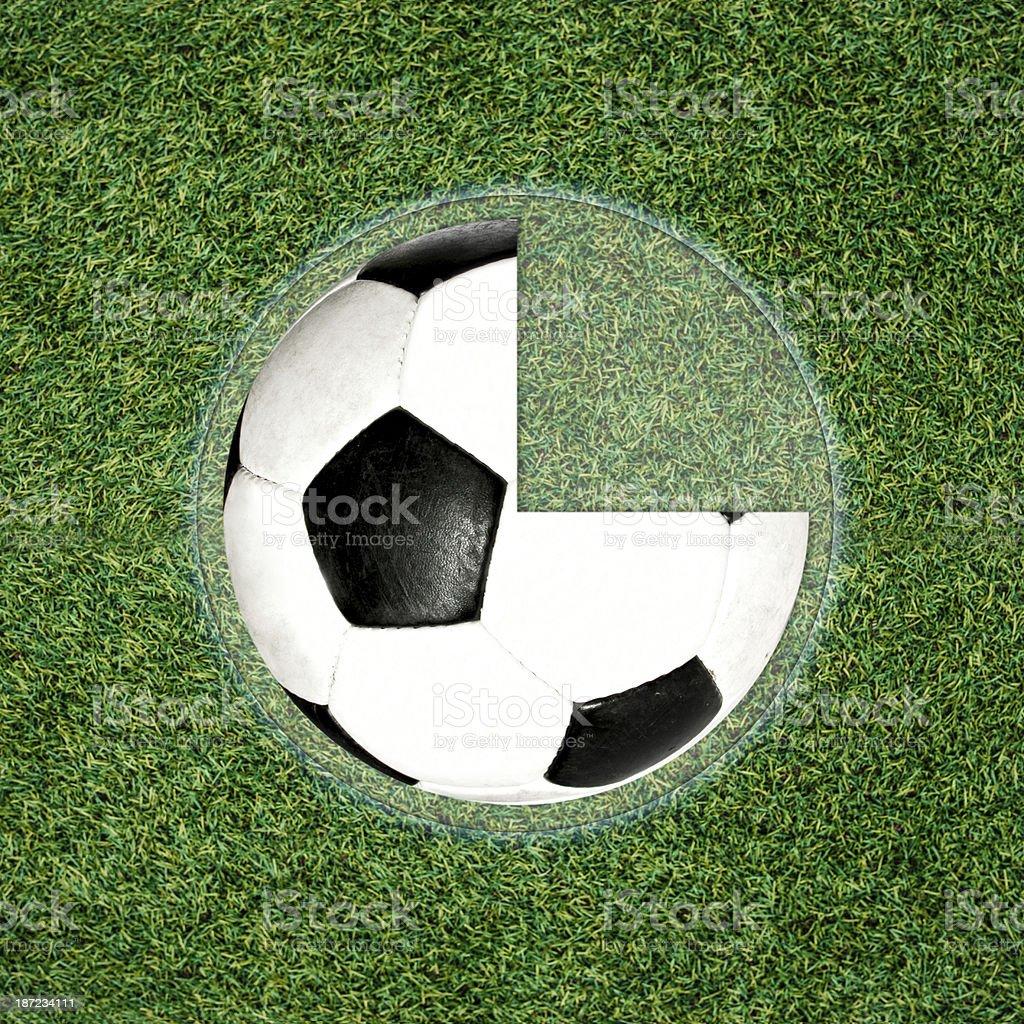 Football ball clock stock photo