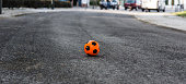 football ball on the road