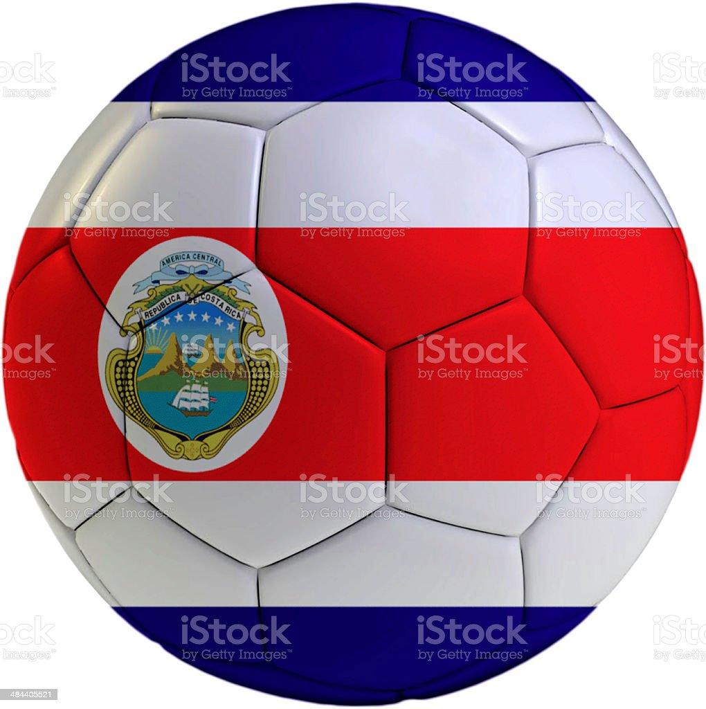 Pelota de fútbol con la bandera de Costa Rica - foto de stock