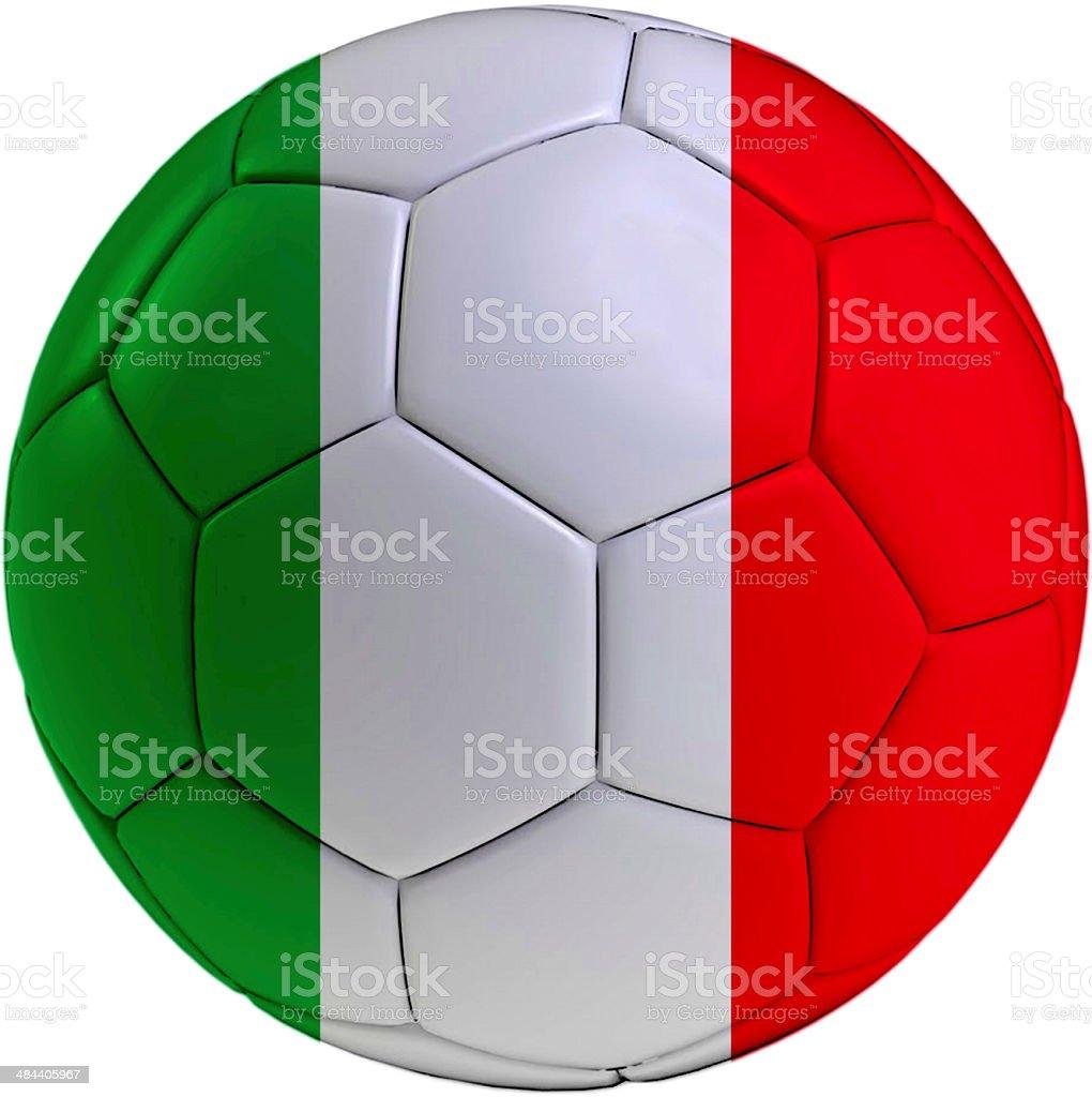 Football ball with Italian flag royalty-free stock photo