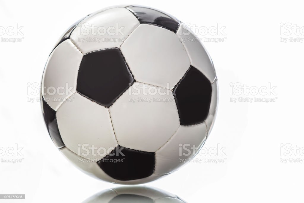 football ball,isolated on white stock photo