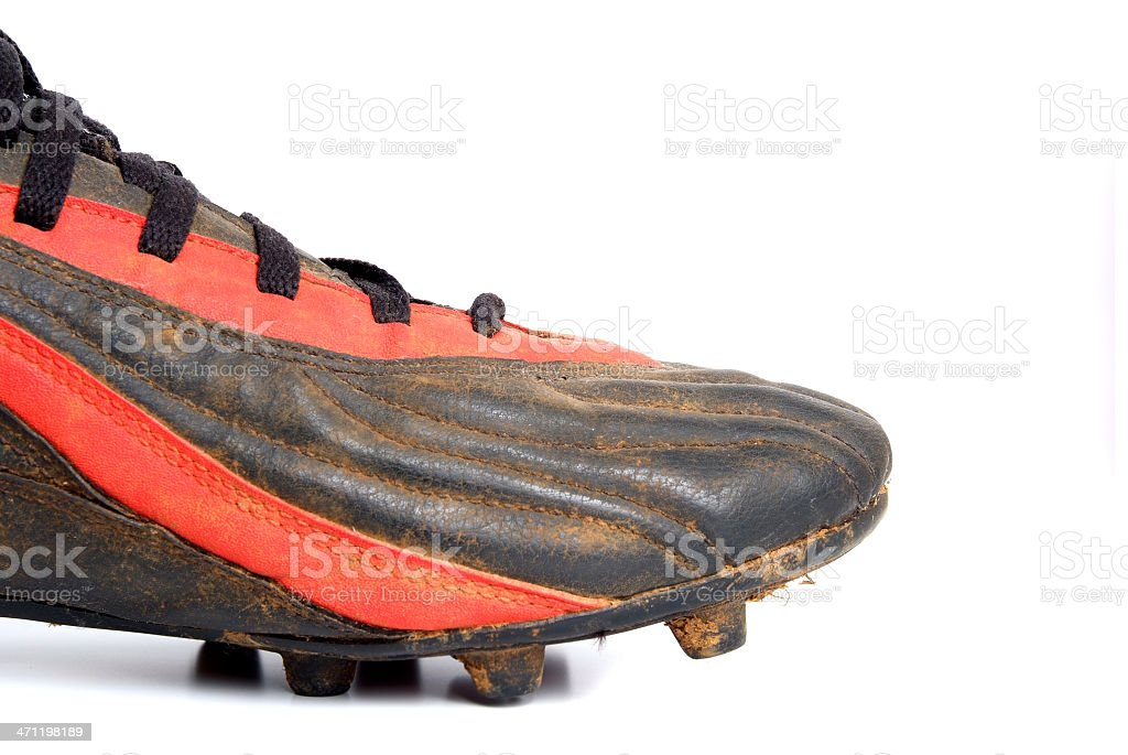 Football boot stock photo
