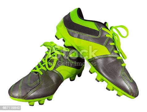 istock Football boots isolated 667118840