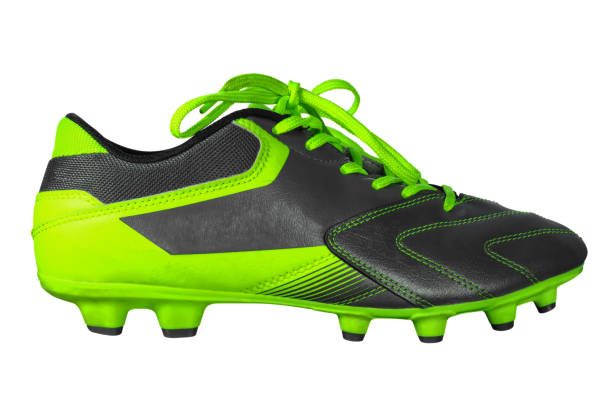 Football boots isolated Football boots isolated on white with Clipping Path studded stock pictures, royalty-free photos & images