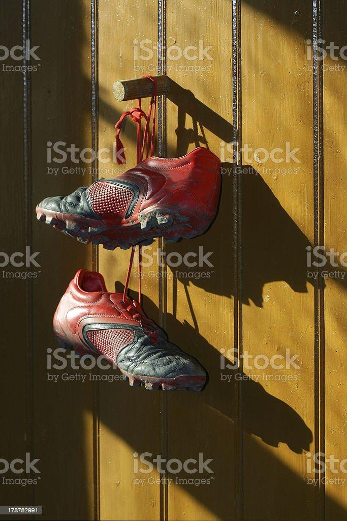 Football boots royalty-free stock photo
