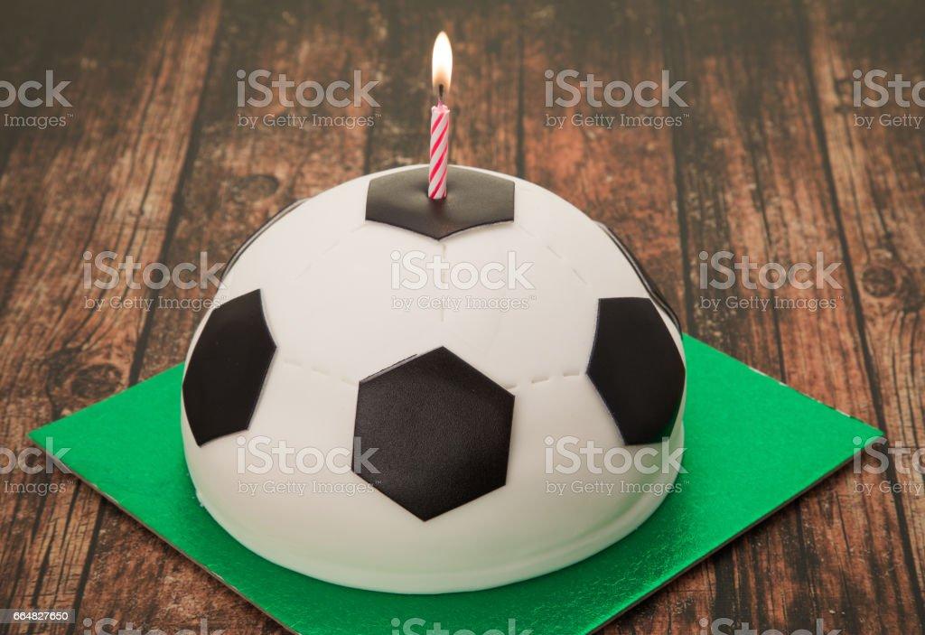 Tremendous Football Cake Stock Photo Download Image Now Istock Funny Birthday Cards Online Overcheapnameinfo