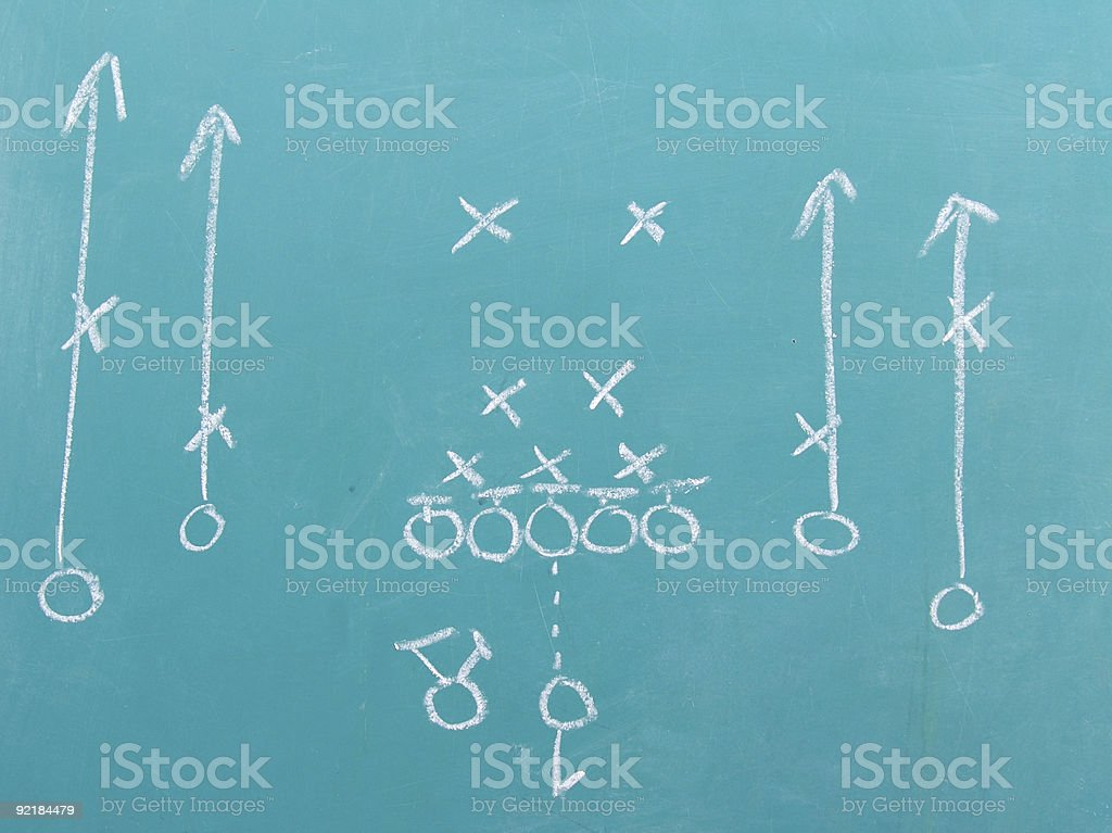 Football Chalk Play 2 stock photo