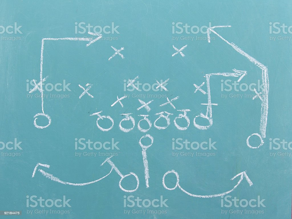 Football Chalk Play stock photo