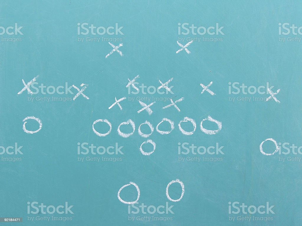 Football Chalk Set 1 stock photo