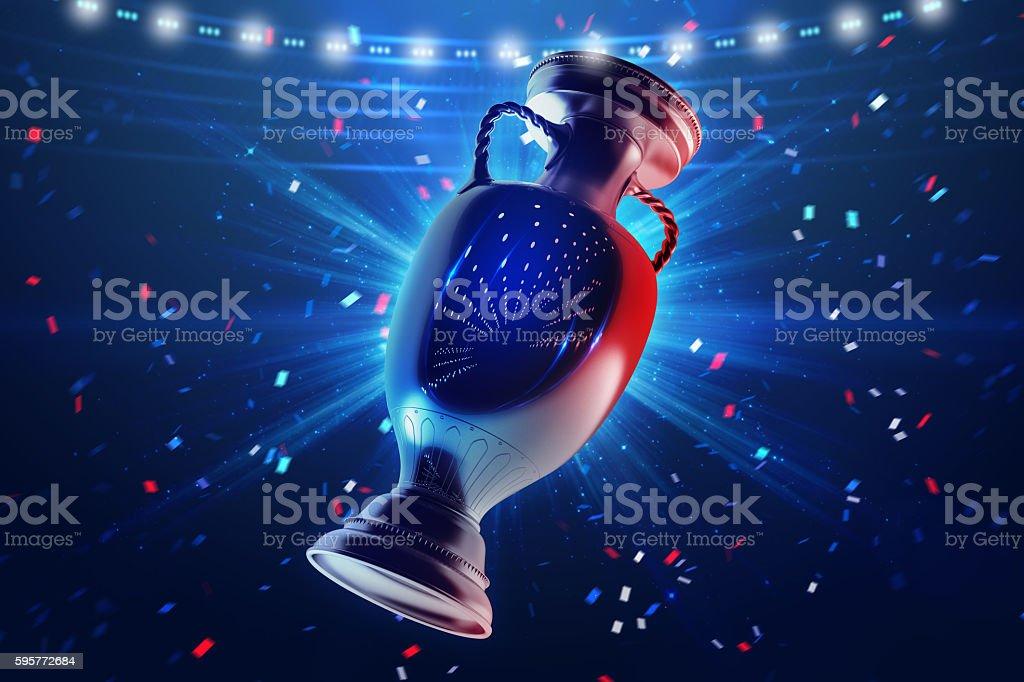 Football championship. Cup stock photo