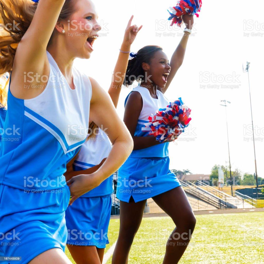 Football Cheerleaders stock photo