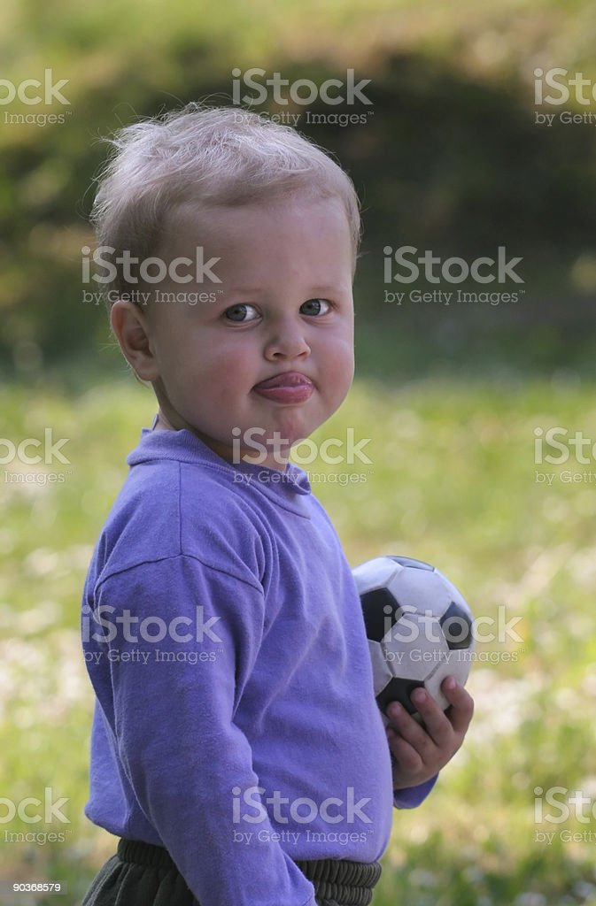 Football child royalty-free stock photo