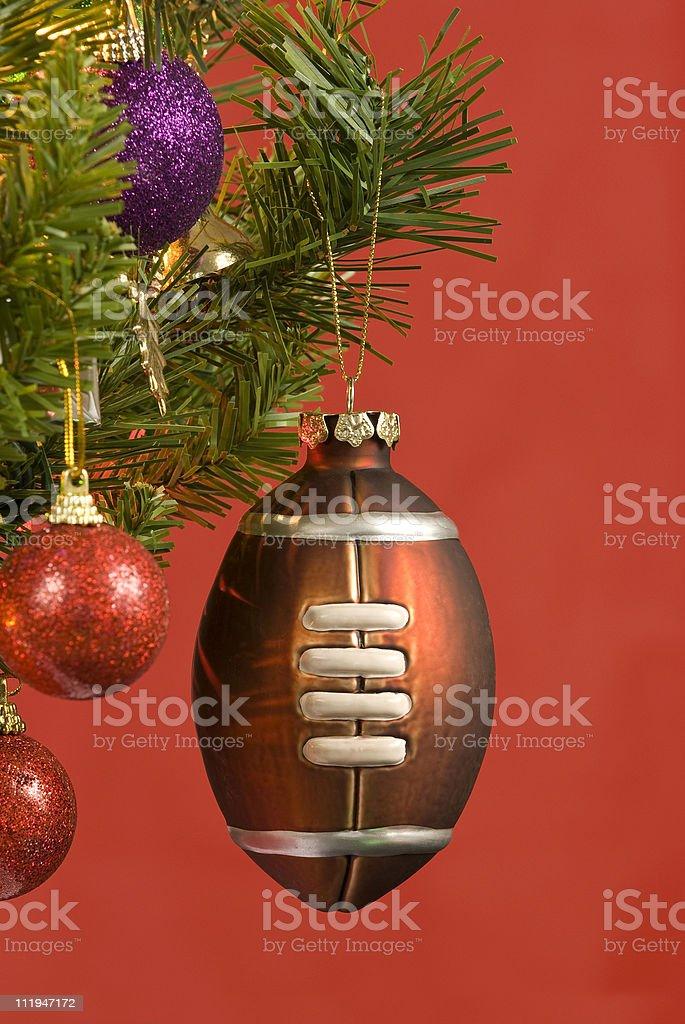 Football Christmas Ornament royalty-free stock photo