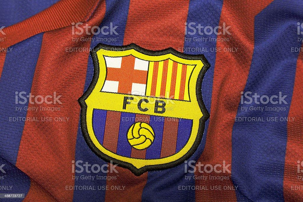Football Club Barcelona Crest. stock photo