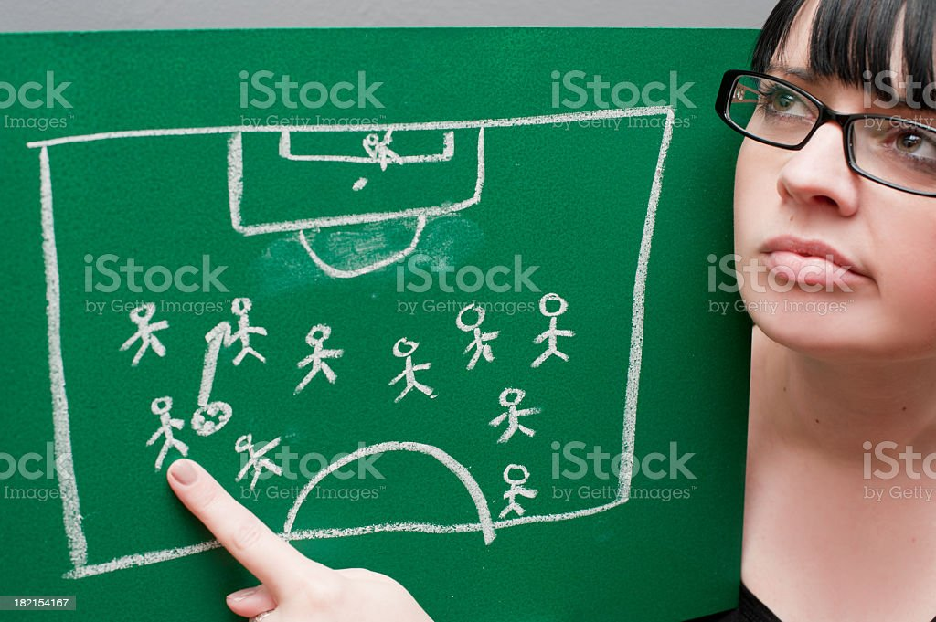 Football Confusion royalty-free stock photo