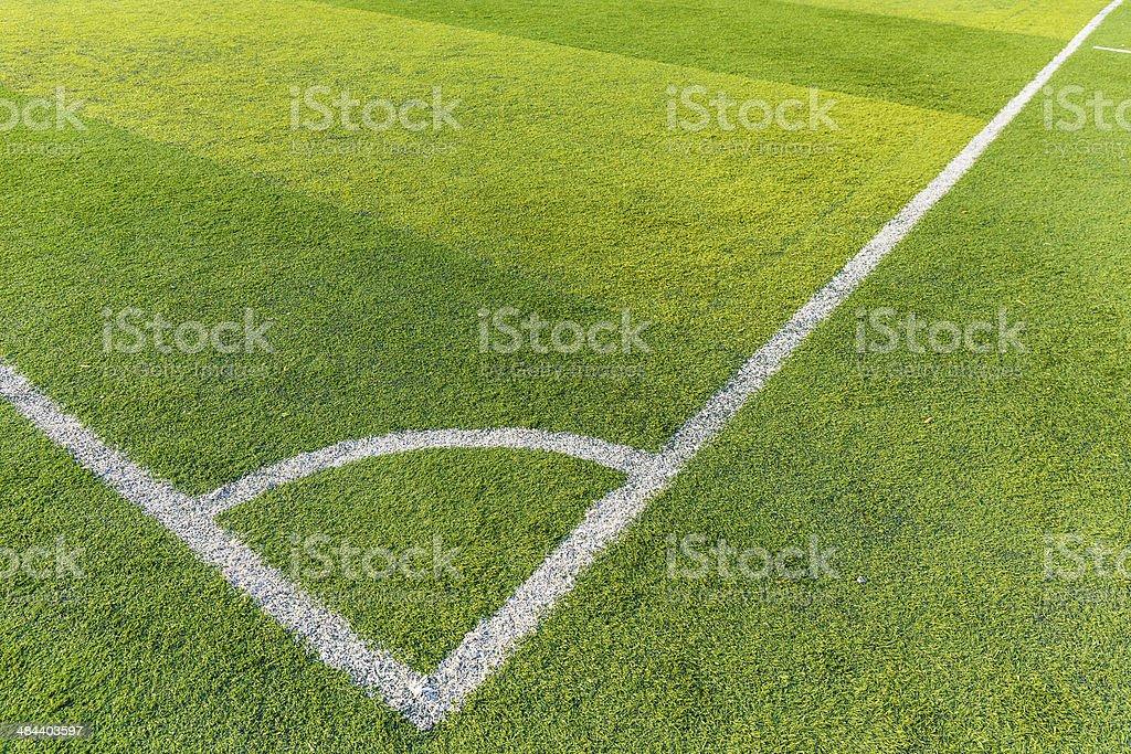 Football court grass stock photo