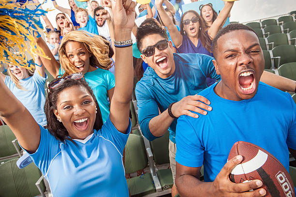 Fußballgemeinde jubeln für Ihre Sportmannschaft – Foto