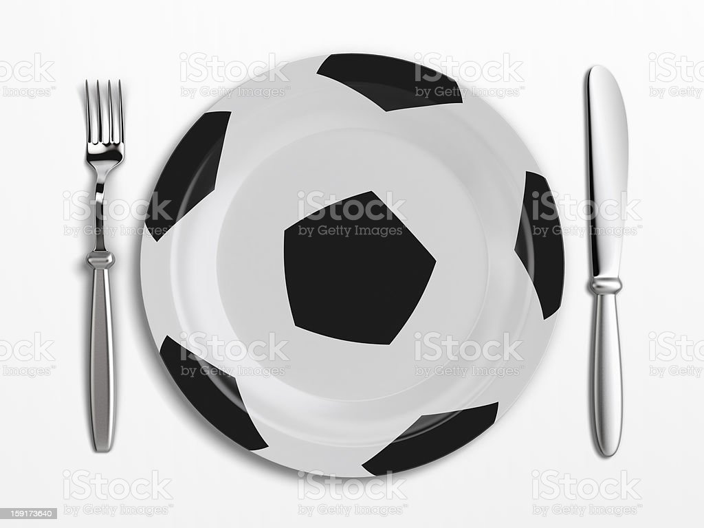 Football dish stock photo