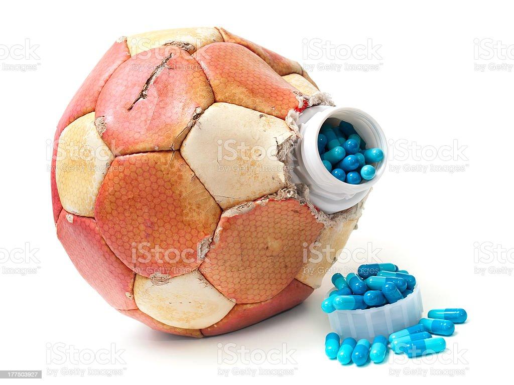 Football doping stock photo