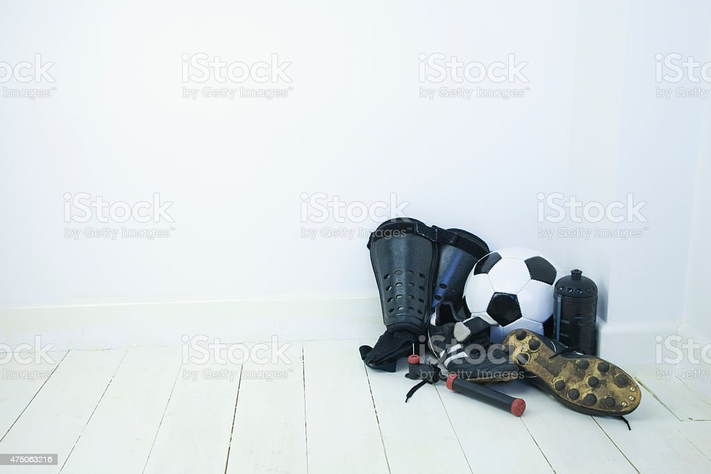 Football equipment stock photo