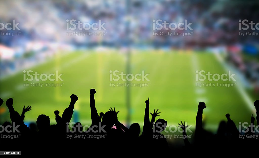 Football Excitement stock photo