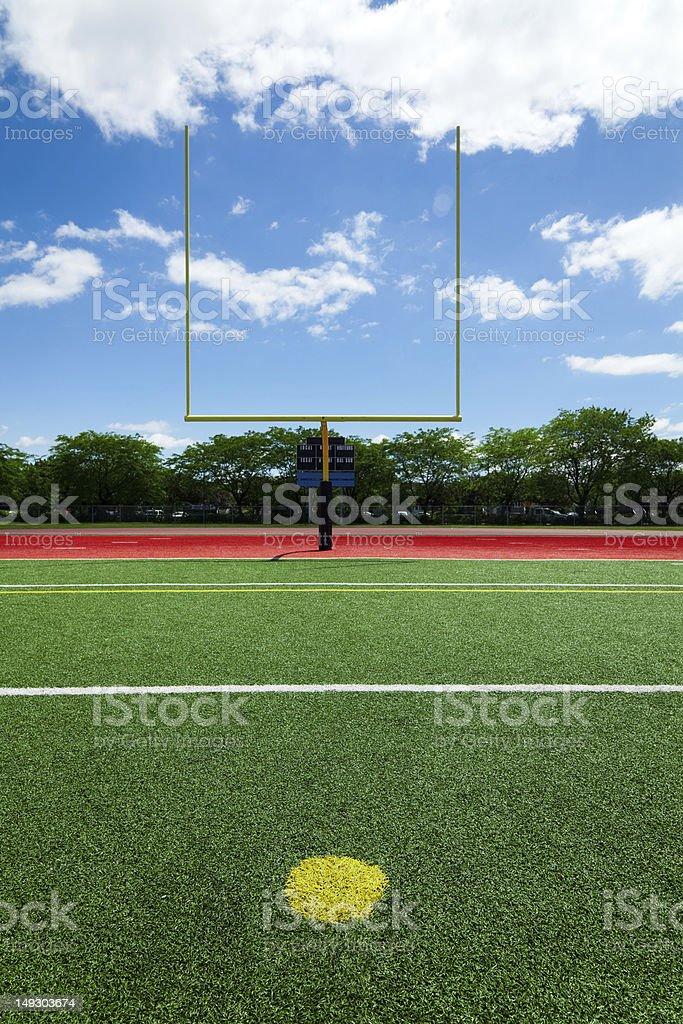 Football extra point stock photo