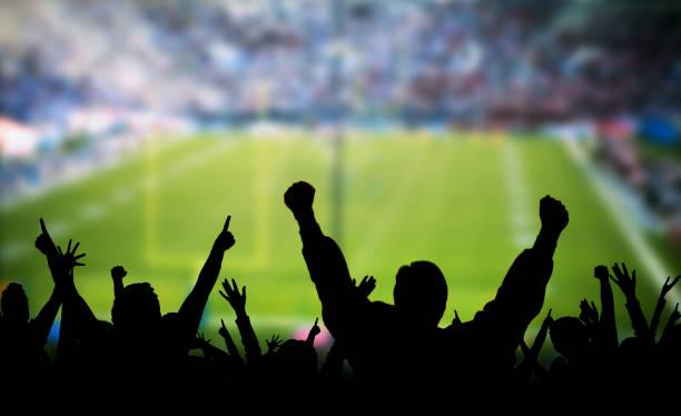 Fußballfans aufgeregt – Foto