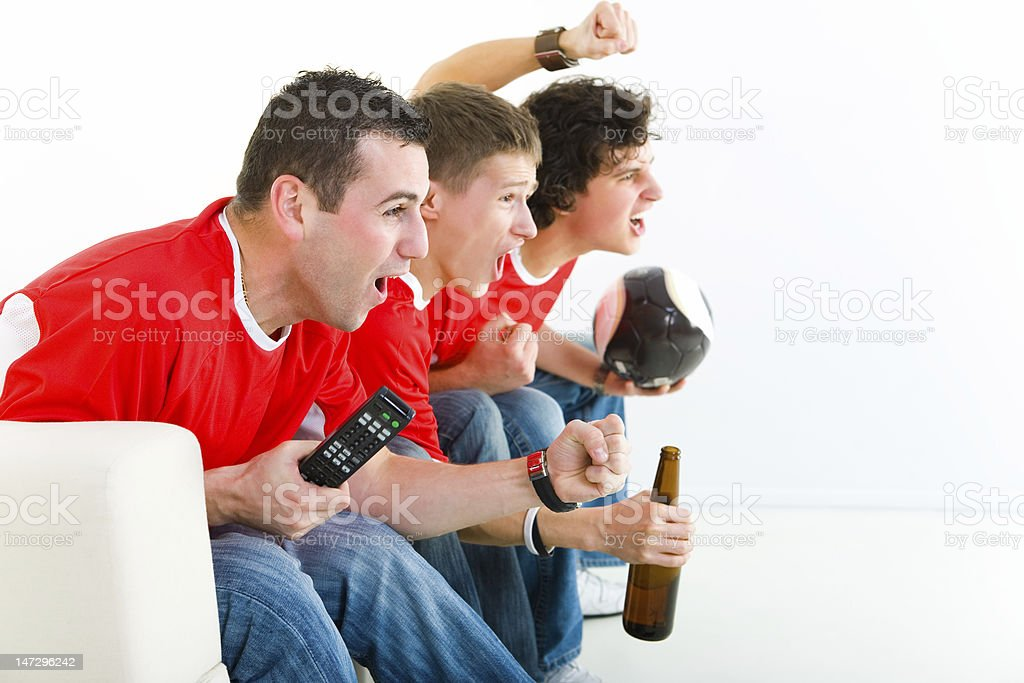 Football fans royalty-free stock photo