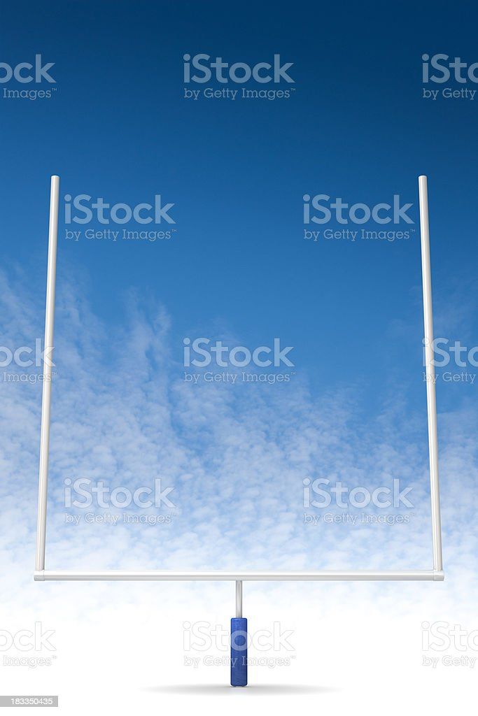 Football feild goal stock photo