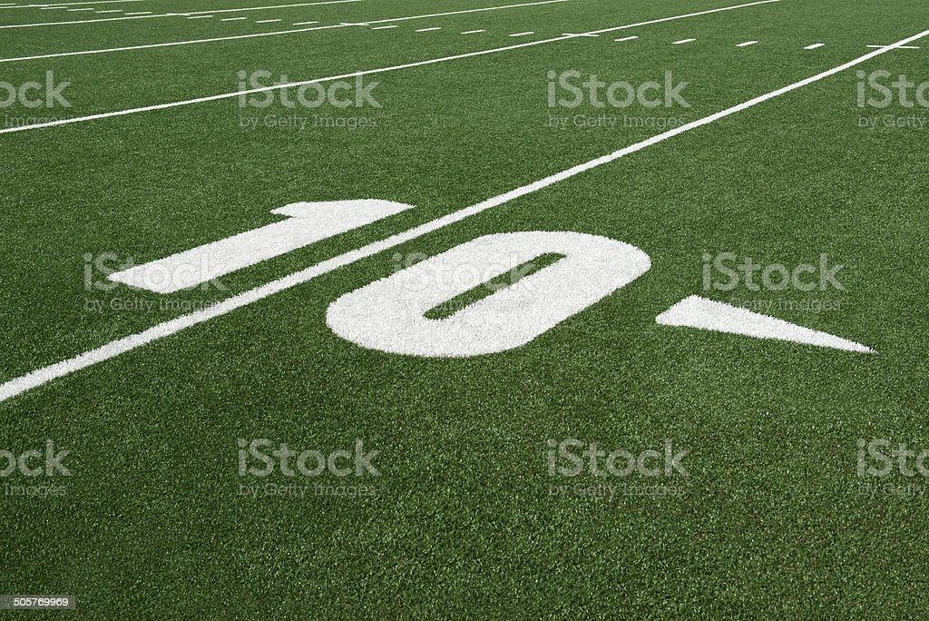 football field - 10 yard line royalty-free stock photo