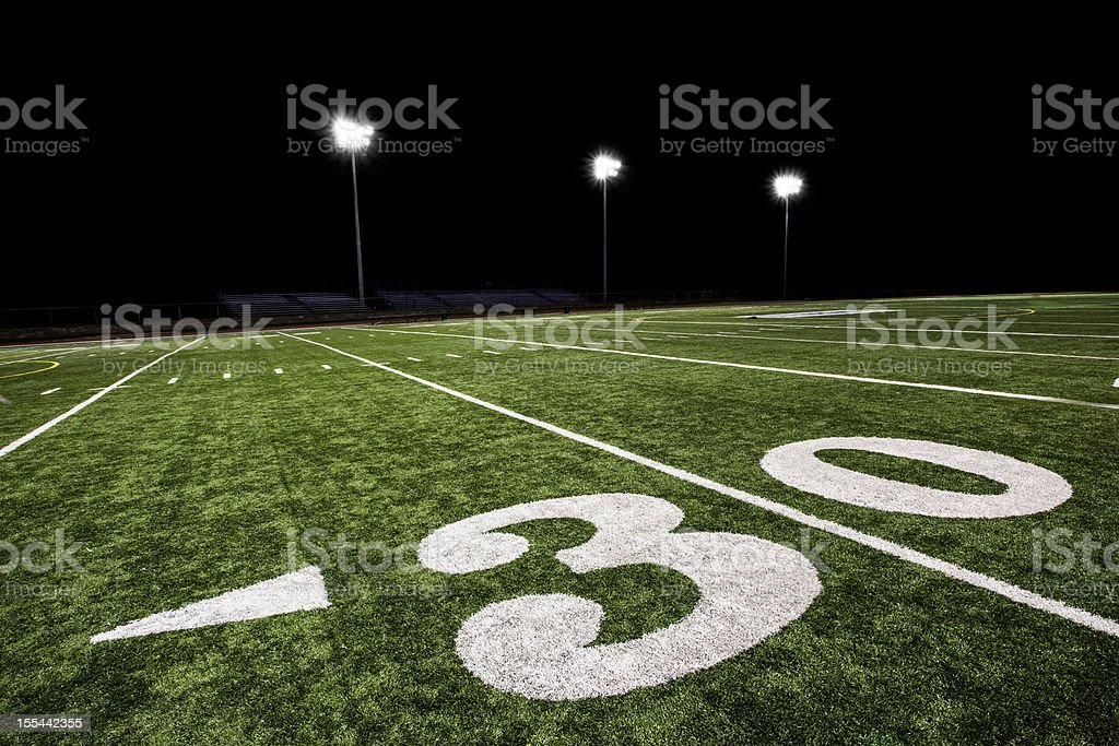 Football Field at Night royalty-free stock photo