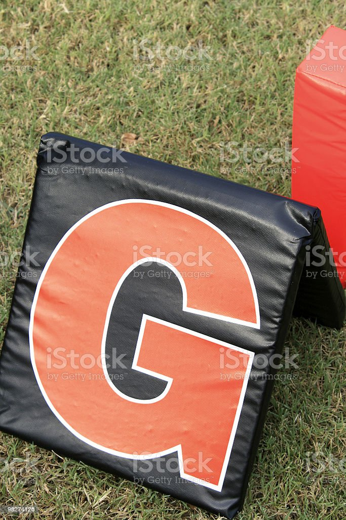 football field boundary (close shot) royalty-free stock photo