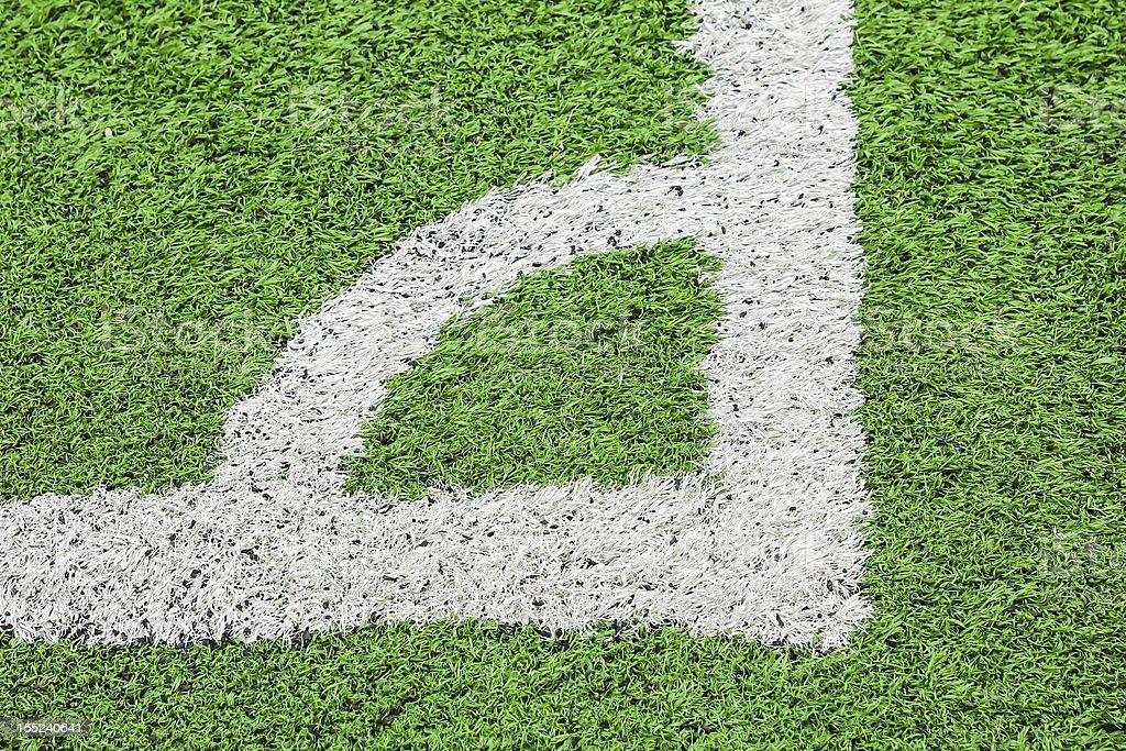 Campo da football americano conner foto stock royalty-free