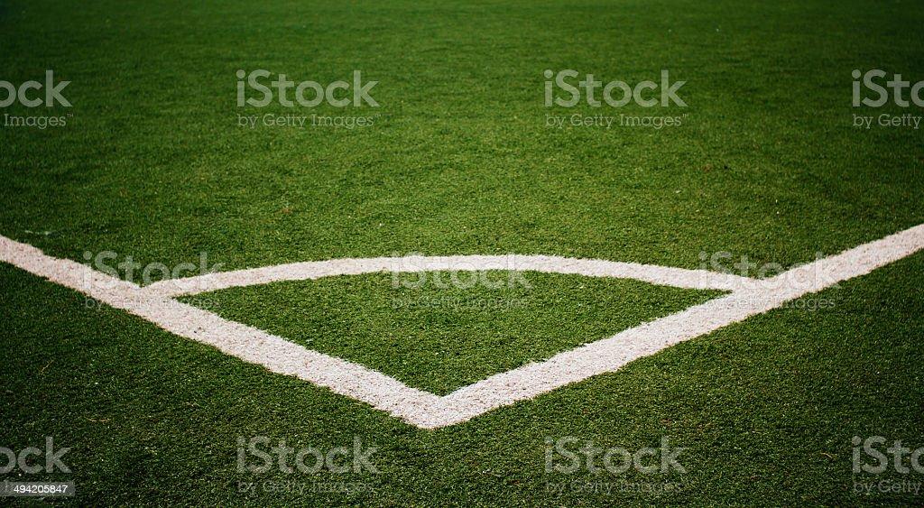 Football  field corner stock photo