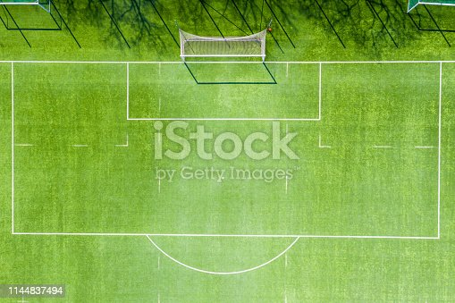 931661614 istock photo Football field from above. Gaate aerial view 1144837494