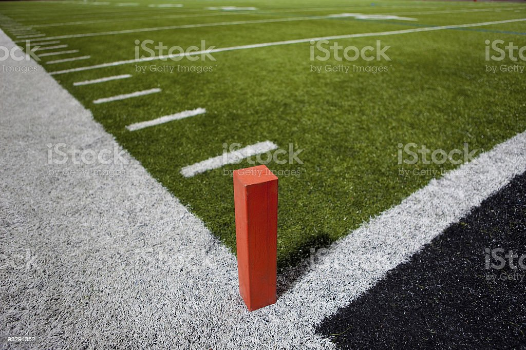 Football Field Goal Post stock photo