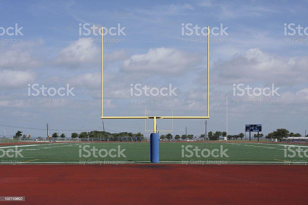 Football Field Goal Posts royalty-free stock photo