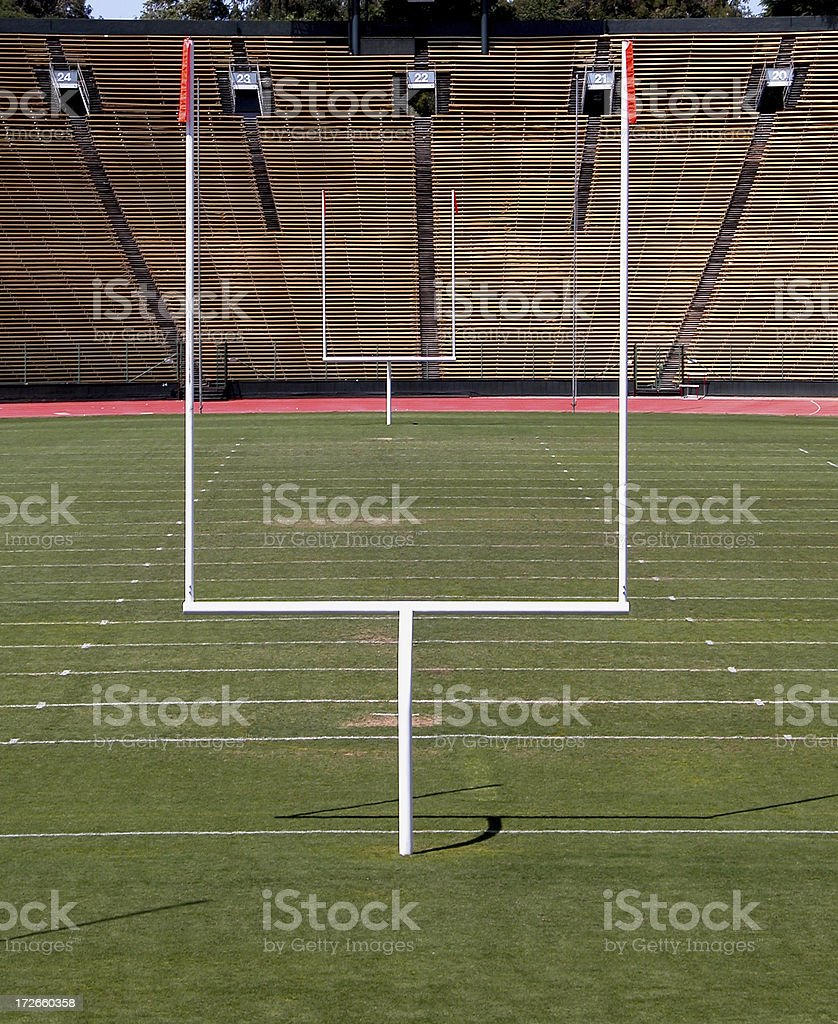 Football Field Goal Posts royalty-free stock photo
