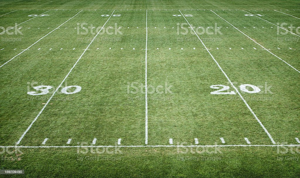 Football Field Horizontal royalty-free stock photo