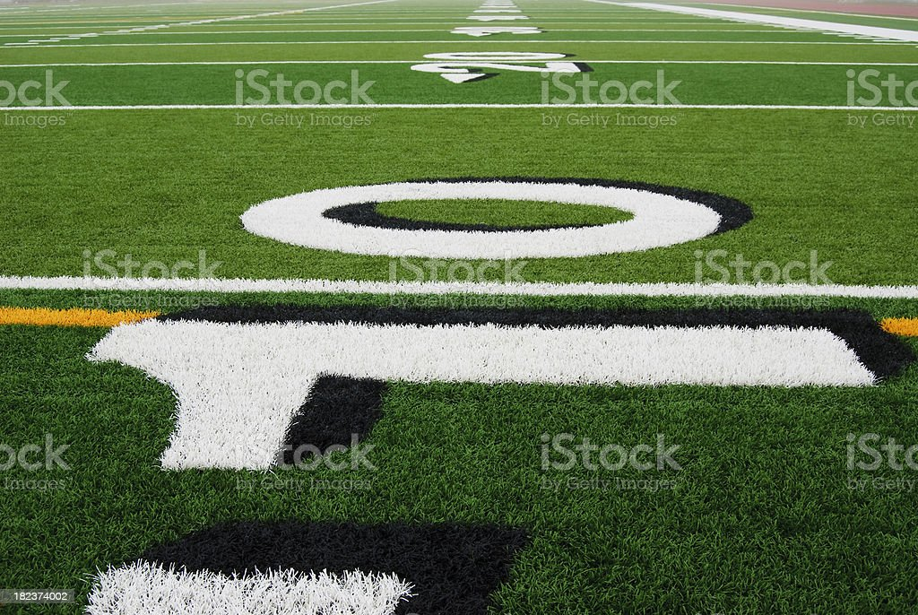 Football Field Perspective royalty-free stock photo