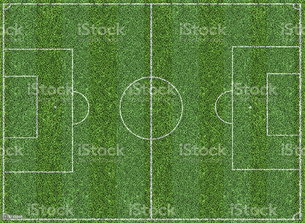Football Field royalty-free stock photo