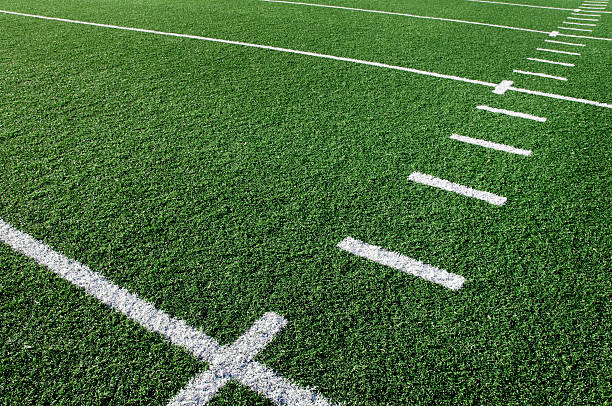Football Field Football field background.  Please see my portfolio for other sport related images. turf stock pictures, royalty-free photos & images