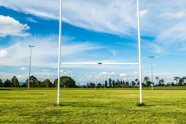 Football field stock photo