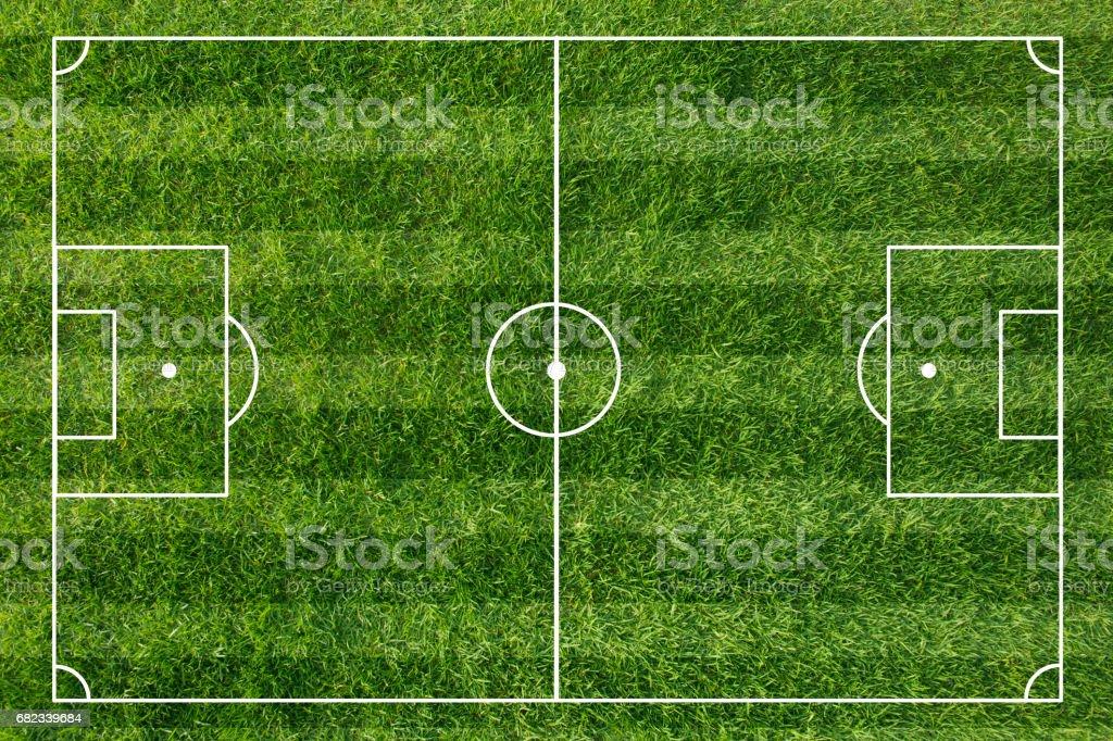 Football field royalty free stockfoto